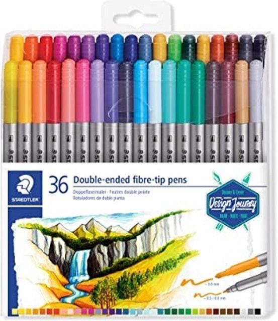 Staedtler Double-Ended Fiber-Tip Pens 1