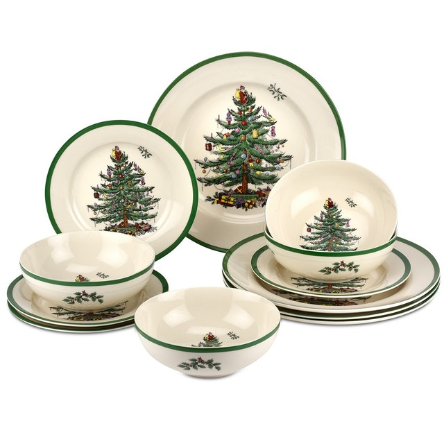 Spode 12-Piece Christmas Tree Dinnerware Collection 1