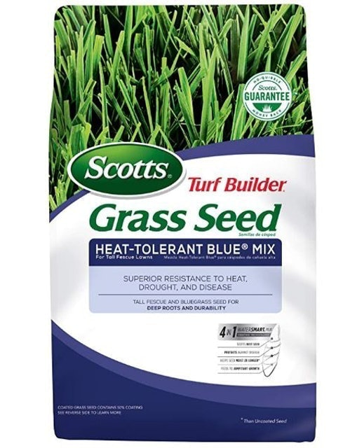 Scotts Turf Builder Grass Seed Heat-Tolerant Blue Mix For Tall Fescue Lawns 1