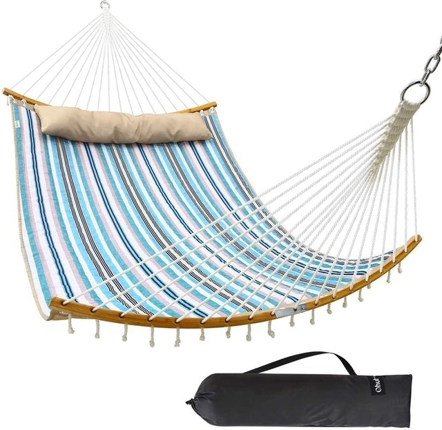 Ohuhu Double Quilted-Fabric Hammock 1