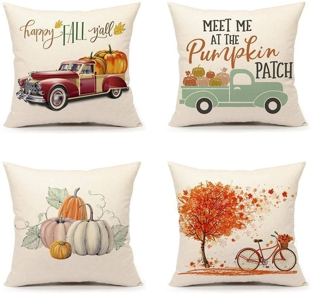 Fall Decorations 4TH Emotion Fall Throw Pillow Covers  1
