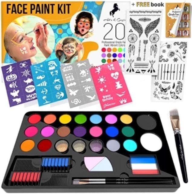 Adis & Guys Art Supply Face Paint Kit for Kids 1