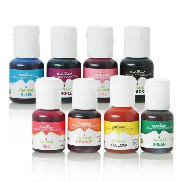 Chefmaster Natural Liqua-Gel Food Coloring Kit  1
