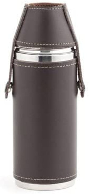 Kikkerland Leather Flask 1