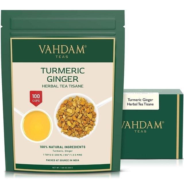 Vahdam  Turmeric Ginger Herbal Tea Tisane  1