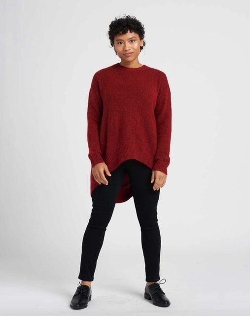 Universal Standard Melissa High-Low Sweater 1
