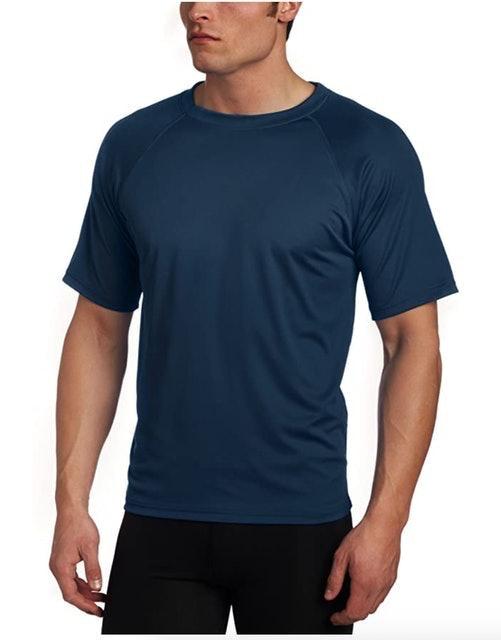 Kanu Surf Men's Short Sleeve UPF 50+ Swim Shirt 1