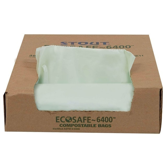 Stout by Envision  Eco-Safe ~6400 Compostable Bags 1