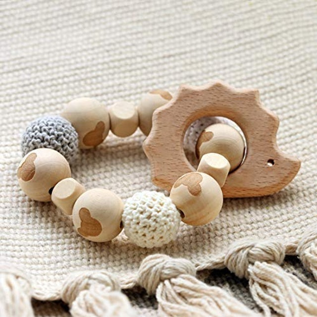 Promise Babe Hedgehog Wooden Teether 1