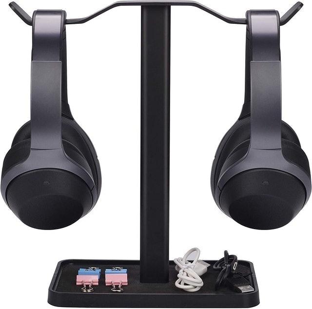 Avantree Dual Headphones Stand for Desk 1