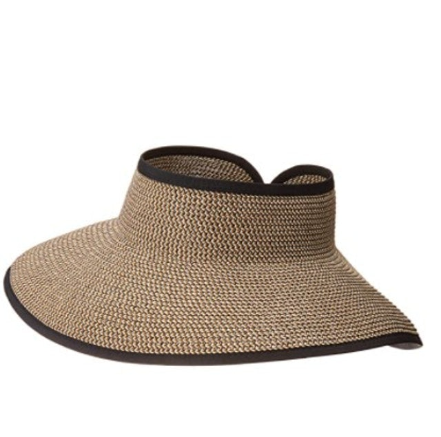San Diego Hat Company Women's Ultrabraid Visor With Ribbon Binding and Sweatband 1