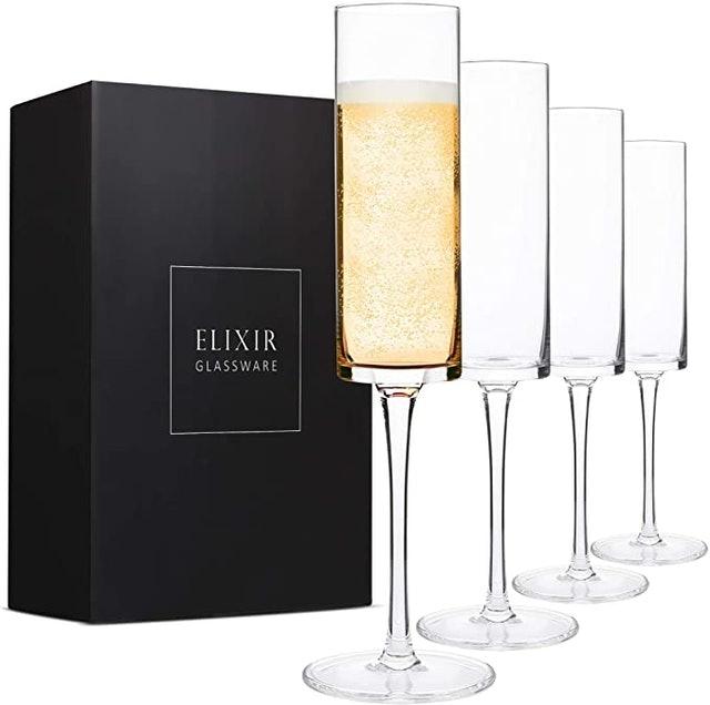 Elixir Glassware Edge Champagne Glass 1