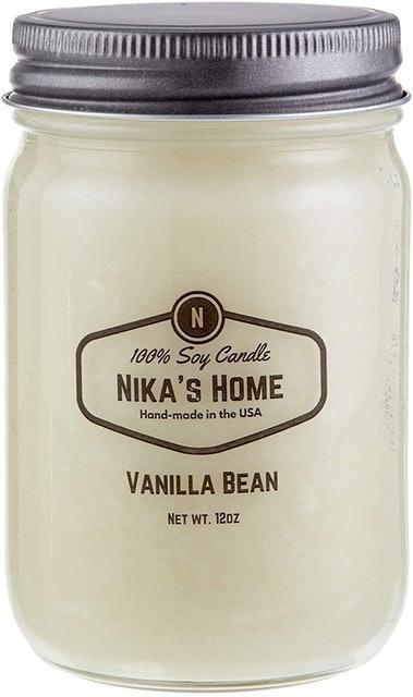 Nika's Home Mason Soy Candle 1