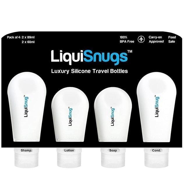 TravelSnugs LiquiSnugs Silicone Travel Bottles 1