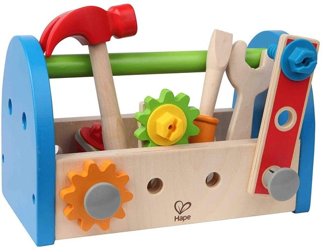 Hape Wooden Tool Box and Accessory Play Set 1