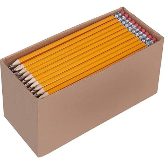 AmazonBasics Pre-sharpened Wood Cased #2 HB Pencils 1
