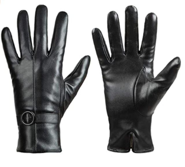 Dsane Womens Winter Leather Gloves 1