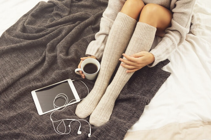 Socks At or Above the Knee Look Great with Skirts and Boots