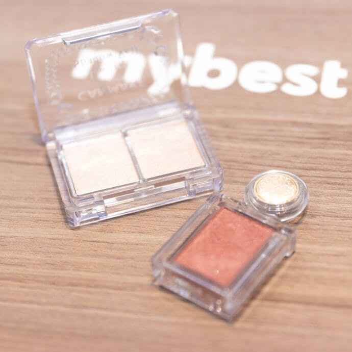 Eyeshadow That's Glittery but Close to your Skin Tone Works Well