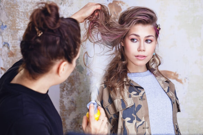 For Just a Couple Days to a Week, Go with Hair Mascara, Hair Chalk, or Hair Spray